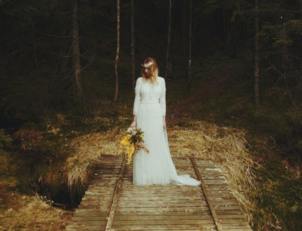 bride in norway cecilel meli dress