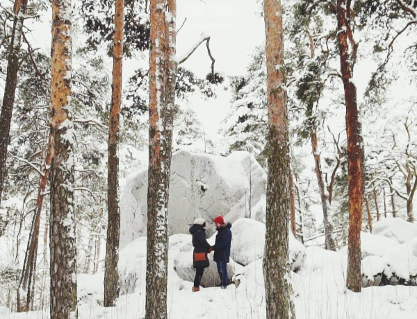 Finland Wedding snow love kiss